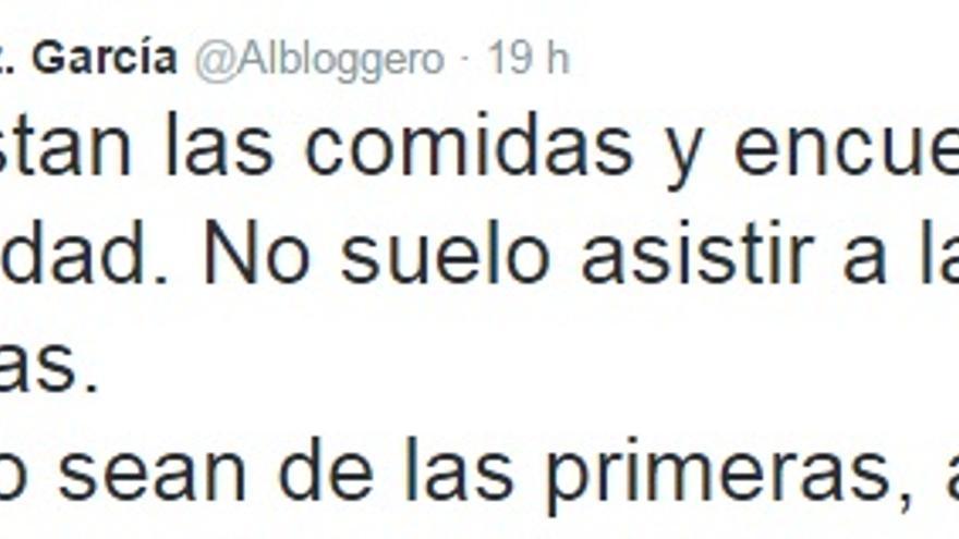 Tuit de Alberto González