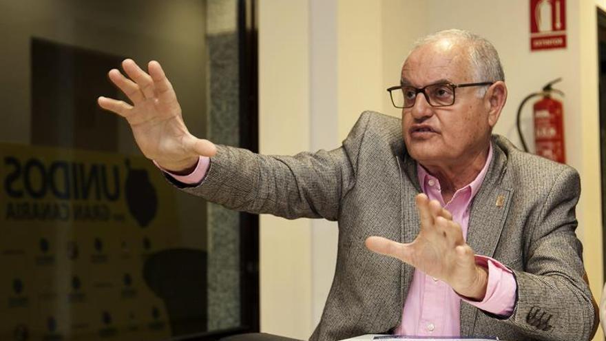 El presidente del Partido Progresista Majorero (PPMAJO), Domingo González Arroyo (EFE/Ángel Medina G.)