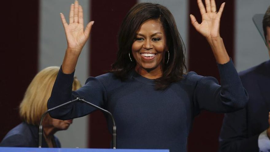 Michelle Obama confiesa que se fue a dormir sin saber el resultado electoral