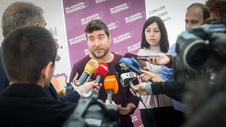 El secretario general de Podemos Aragón, Nacho Escartín