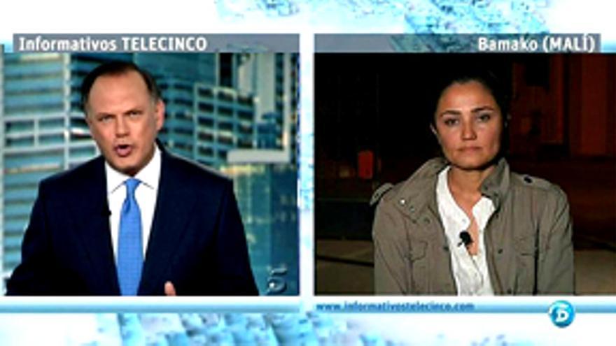 """""""La incansable Mayte Carrasco, de Tele 5, primera periodista de TV que entró en Mali"""""""