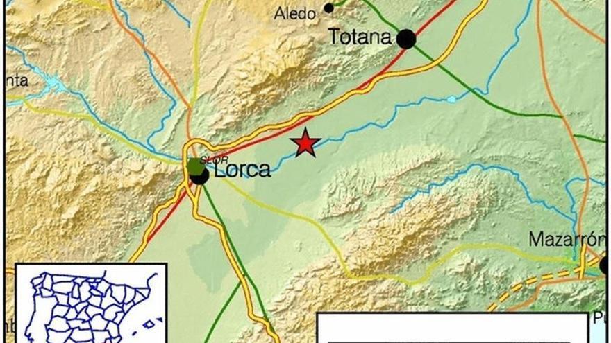 Mapa del terremoto producido en Lorca