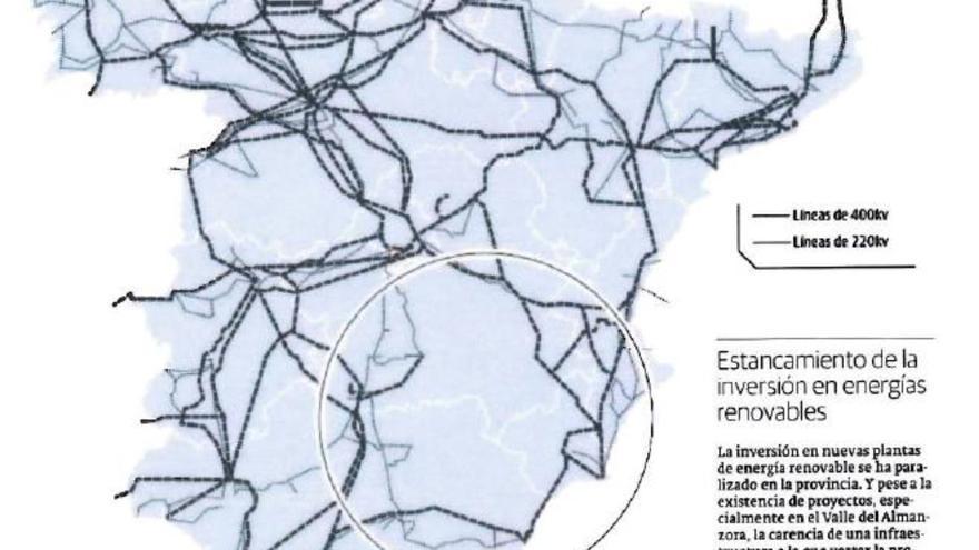 Infraestructuras eléctricas en España.