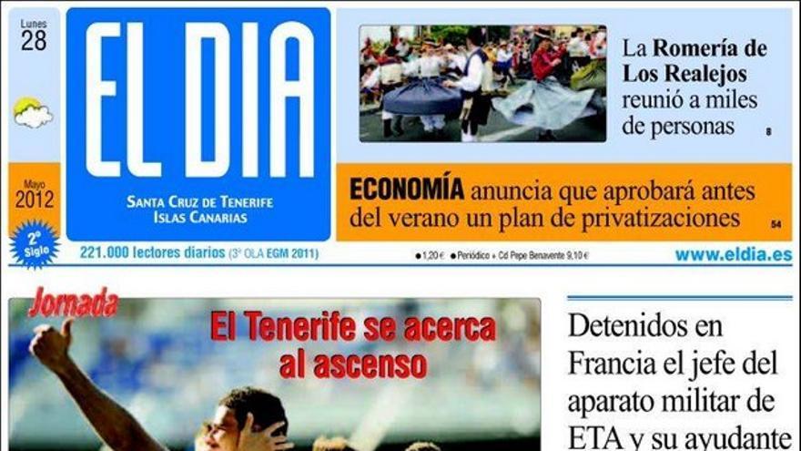 De las portadas del día (28/05/2012) #4