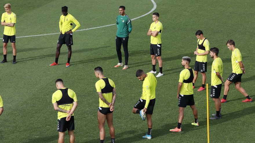 Los jugadores amarillos, en un entrenamiento