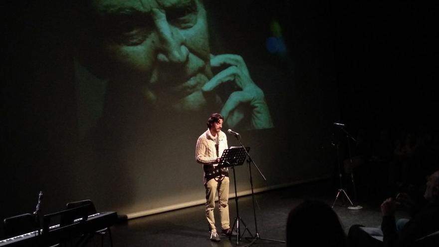 Juan Diego Botto en el homenaje a Marcos Ana de la Sala Mirador
