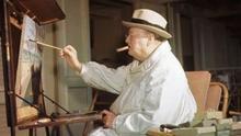 Winston Churchill pintando
