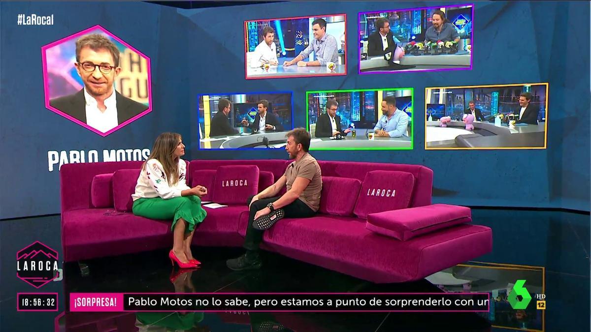 Nuria Roca con Pablo Motos en 'La Roca'