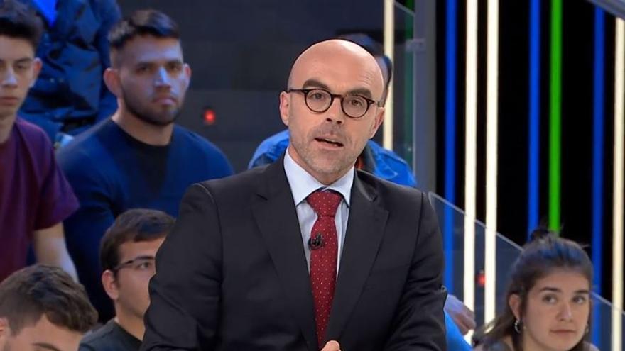 Jorge Buxadé, candidato de Vox a las elecciones europeas, en el programa El Objetivo de laSexta.