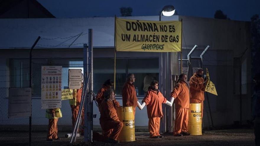 Greenpeace acaba la protesta en Doñana y lleva 75.000 firmas a la Junta y el Gobierno