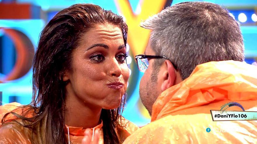Lara Álvarez con Florentino Fernández en Cuatro
