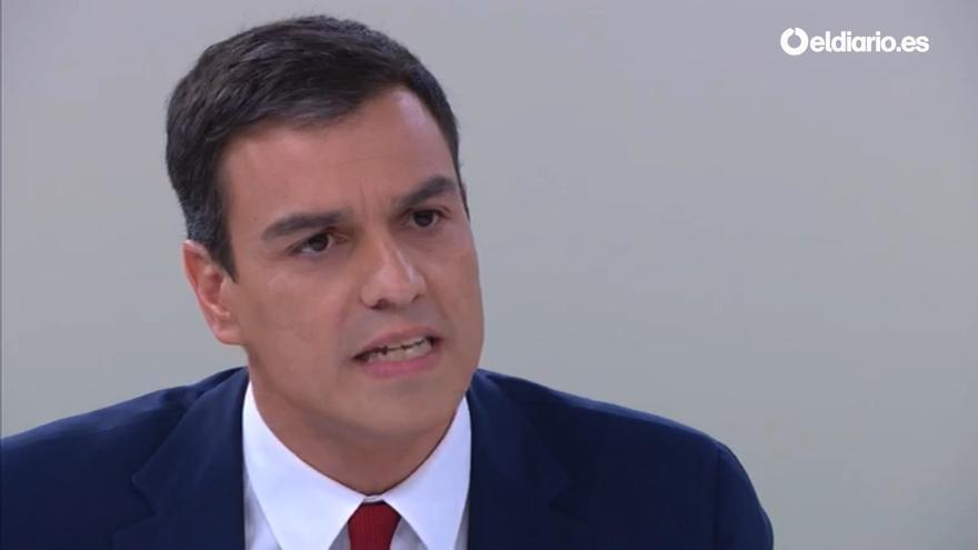 Pedro Sánchez en el cara a cara con Rajoy