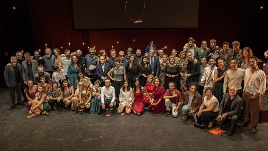 Los premiados en el Teatro Principal de Alicante