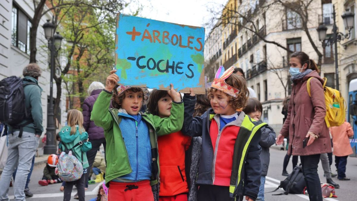 Protesta de la Revuelta Escolar en la calle Bailén, el pasado 9 de abril