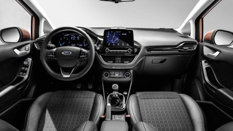 Vista general del salpicadero del nuevo Ford Fiesta.