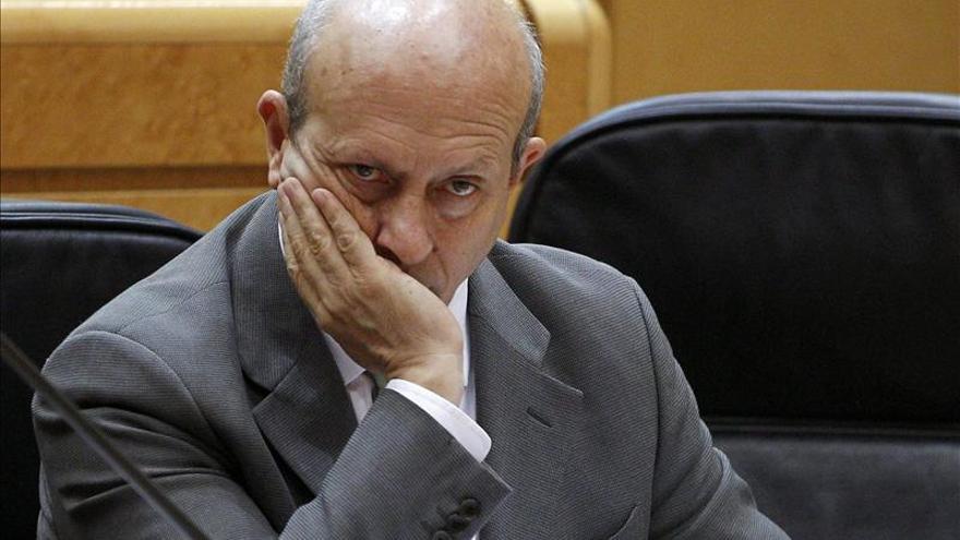 El ministro de Educación, José Ignacio Wert, durante una sesión de control al Gobierno. / Efe