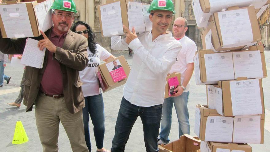 UPyD ha mostrado gráficamente su trabajo duro durante la última lesgislatura en el ayuntamiento de Murcia