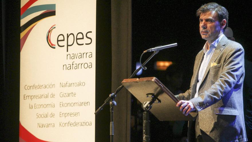El presidente de la Confederación Empresarial de Economía Social de Navarra, Ignacio Ugalde.