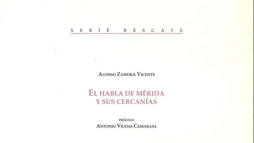 Habla Merida Alonso Zamora Vicente