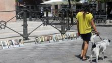 Víctimas del franquismo en la Plaza de la Gavidia (Sevilla). |