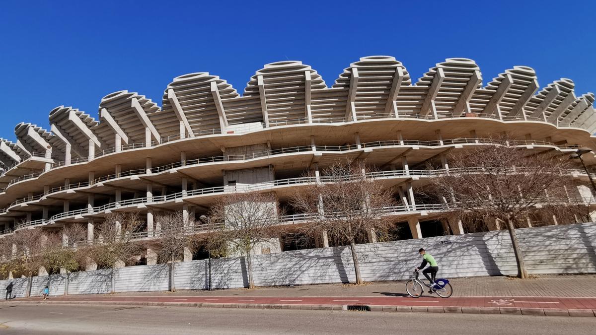 Imagen actual del nuevo Mestalla.