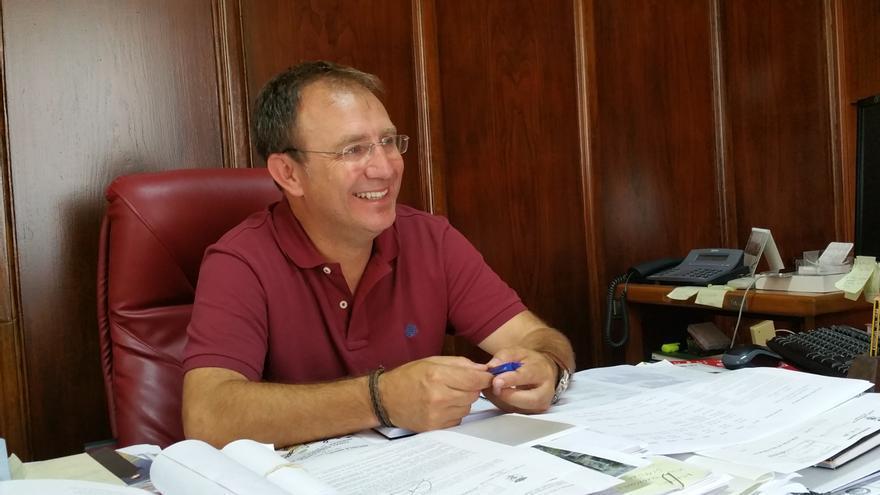 El nacionalista Sergio Rodríguez es alcalde de El Pas. Foto: LUZ RODRÍGUEZ.