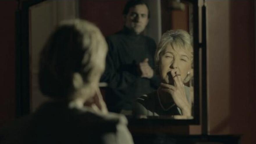 La actriz Asunción Balaguer en un escena de la película que no llegó a estrenarse.