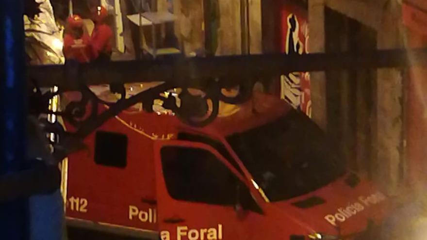 Operación de la Policía Foral en el gaztetxe Maravillas de Pamplona.