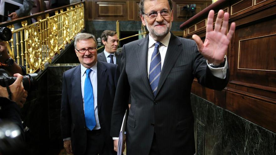 Mariano Rajoy, a su entrada en el Congreso de los Diputados antes del discurso de investidura este miércoles 26 de octubre de 2016