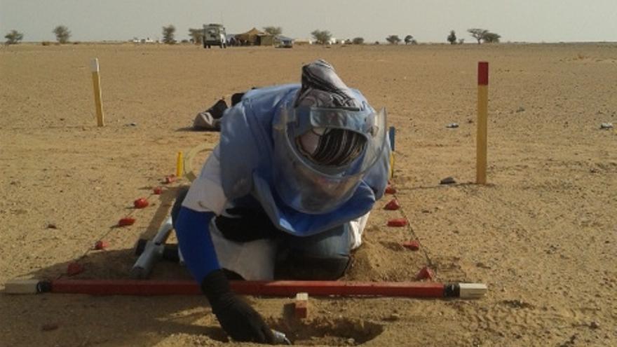 Imagen tomada en uno de los entrenamientos en la región de Mijek / Fotografía: AOAV