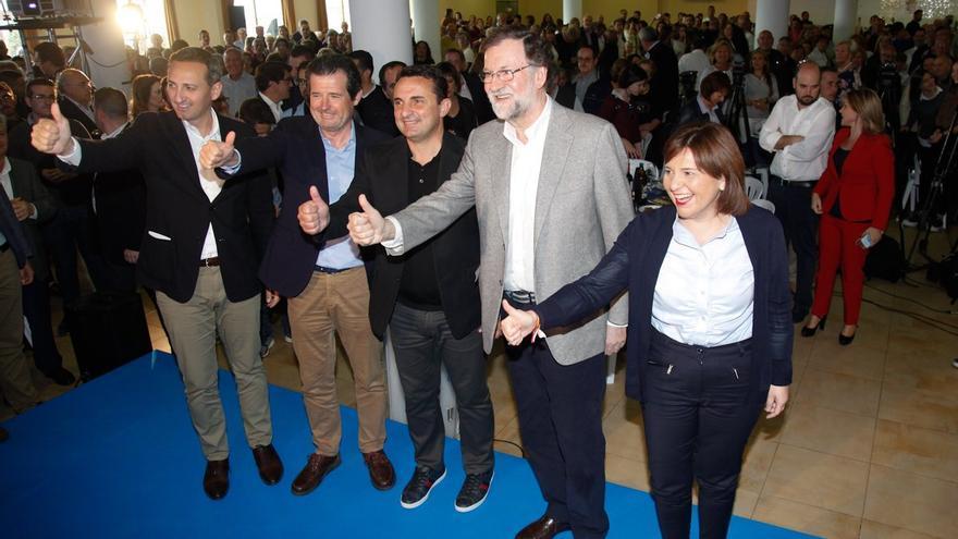 César Sánchez, José Císcar, Bernabé Cano, Mariano Rajoy e Isabel Bonig en la Nucía