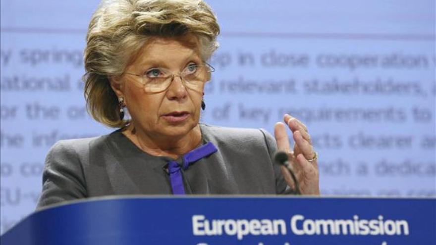 La ex comisaria de Justicia de la UE, Viviane Reding.