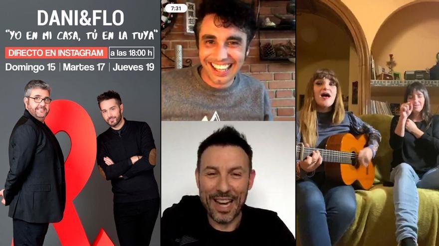 El entretenimiento se traslada a las redes con famosos durante la cuarentena