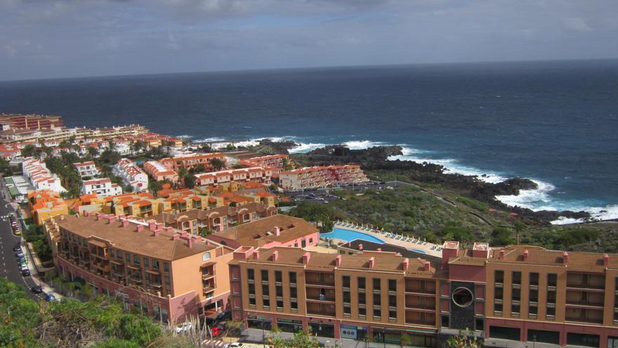 En la imagen, núcleo turístico de Los Cancajos, en Breña Baja.