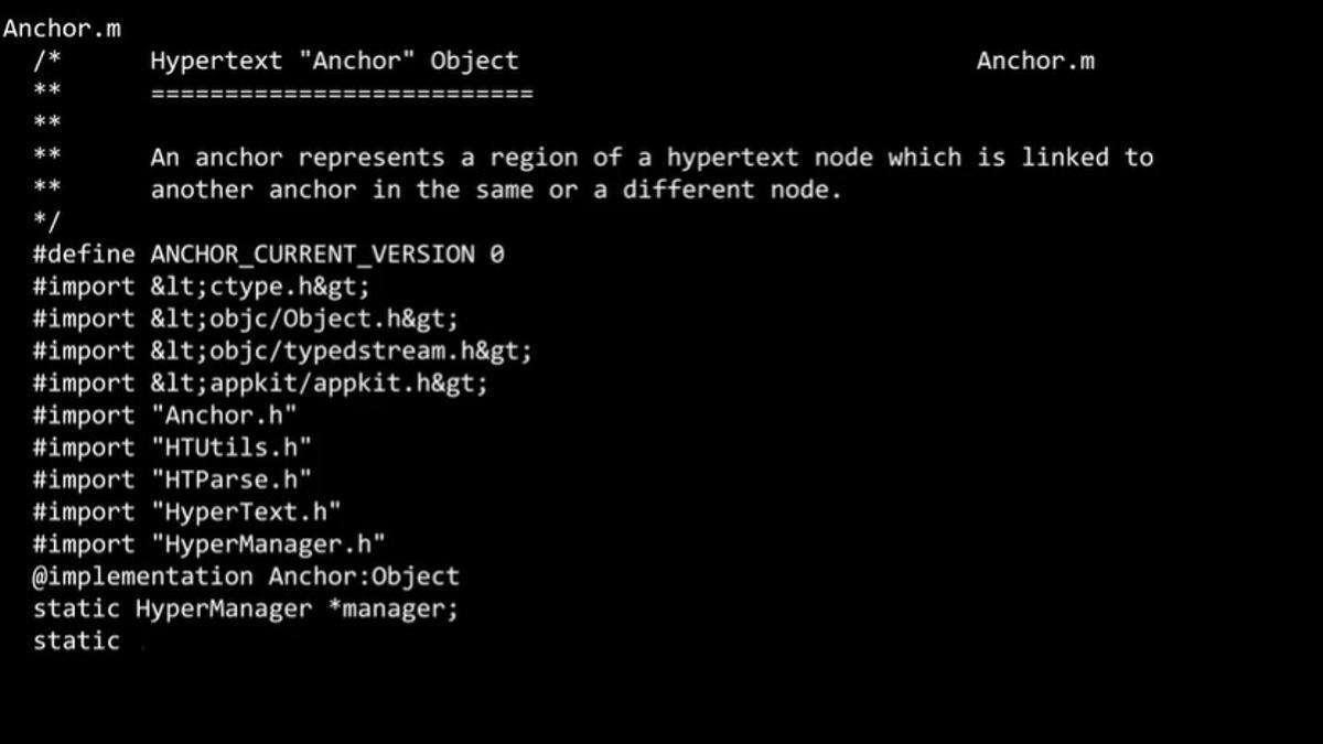 Imagen del vídeo con el código fuente de la World Wide Web que se ha subastado por 5,4 millones de dólares.