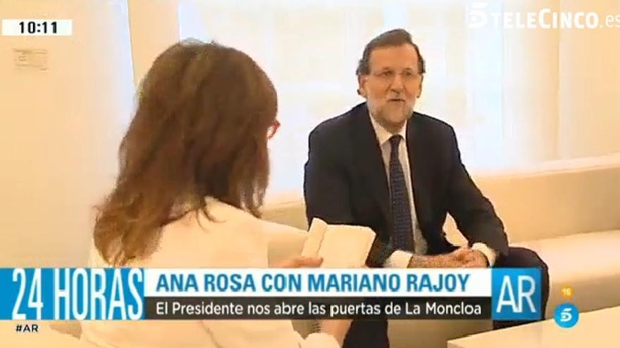 Ana Rosa Quintana y Mariano Rajoy, en Moncloa