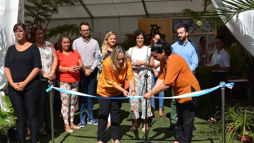 Un momento de la  inauguración de la XXXI Feria Insular de Artesanía.