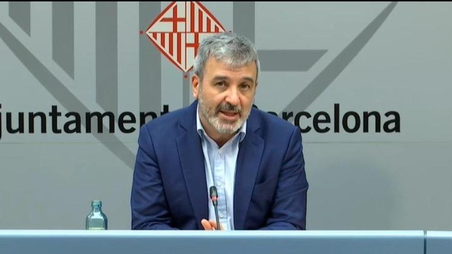 El teniente de alcalde Jaume Collboni, durante la rueda de prensa de este lunes.
