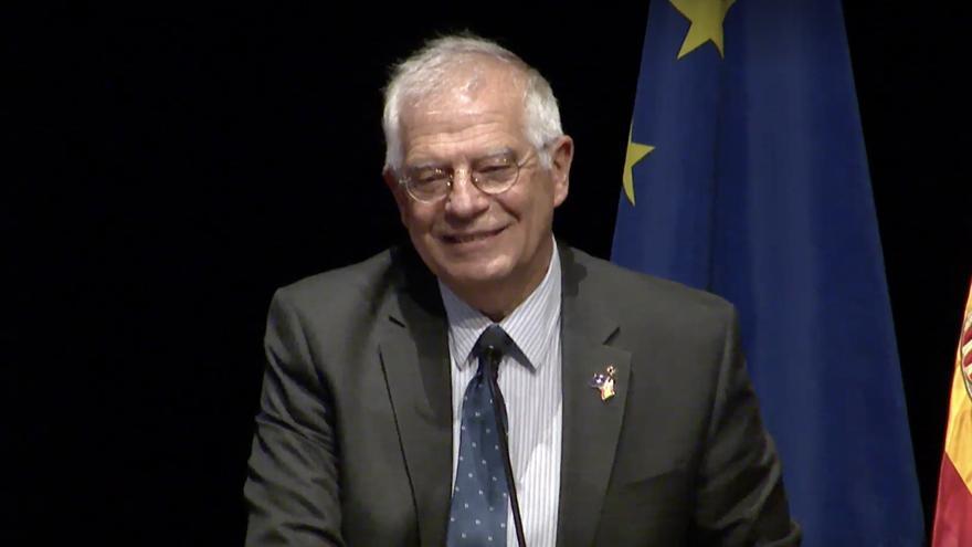 Josep Borrell, en el acto de Sociedad Civil Catalana en Bruselas.