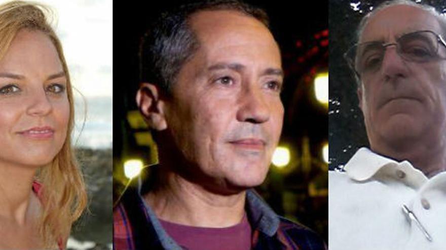 Noemí Santana, Adolfo Padrón y Tomás Capote.