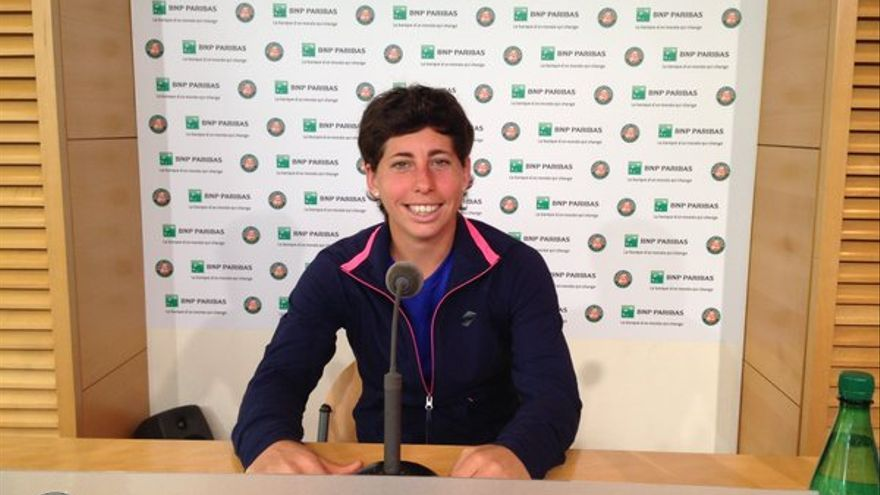 La tenista grancanara, Carla Suárez.