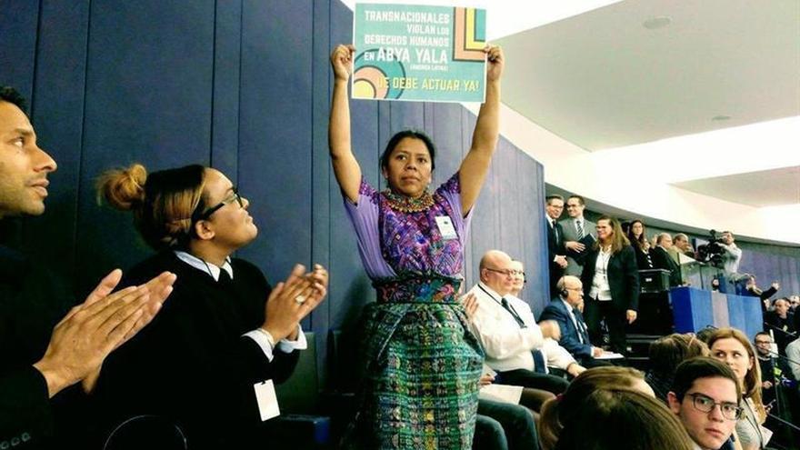 La finalista premio Sájarov acusa a las empresas de la UE de violar los derechos en Guatemala