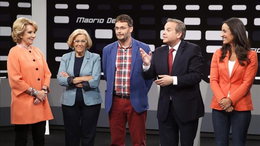 """Aguirre aprecia """"nerviosismo"""" en """"los de Podemos"""" tras su debate con Carmena"""
