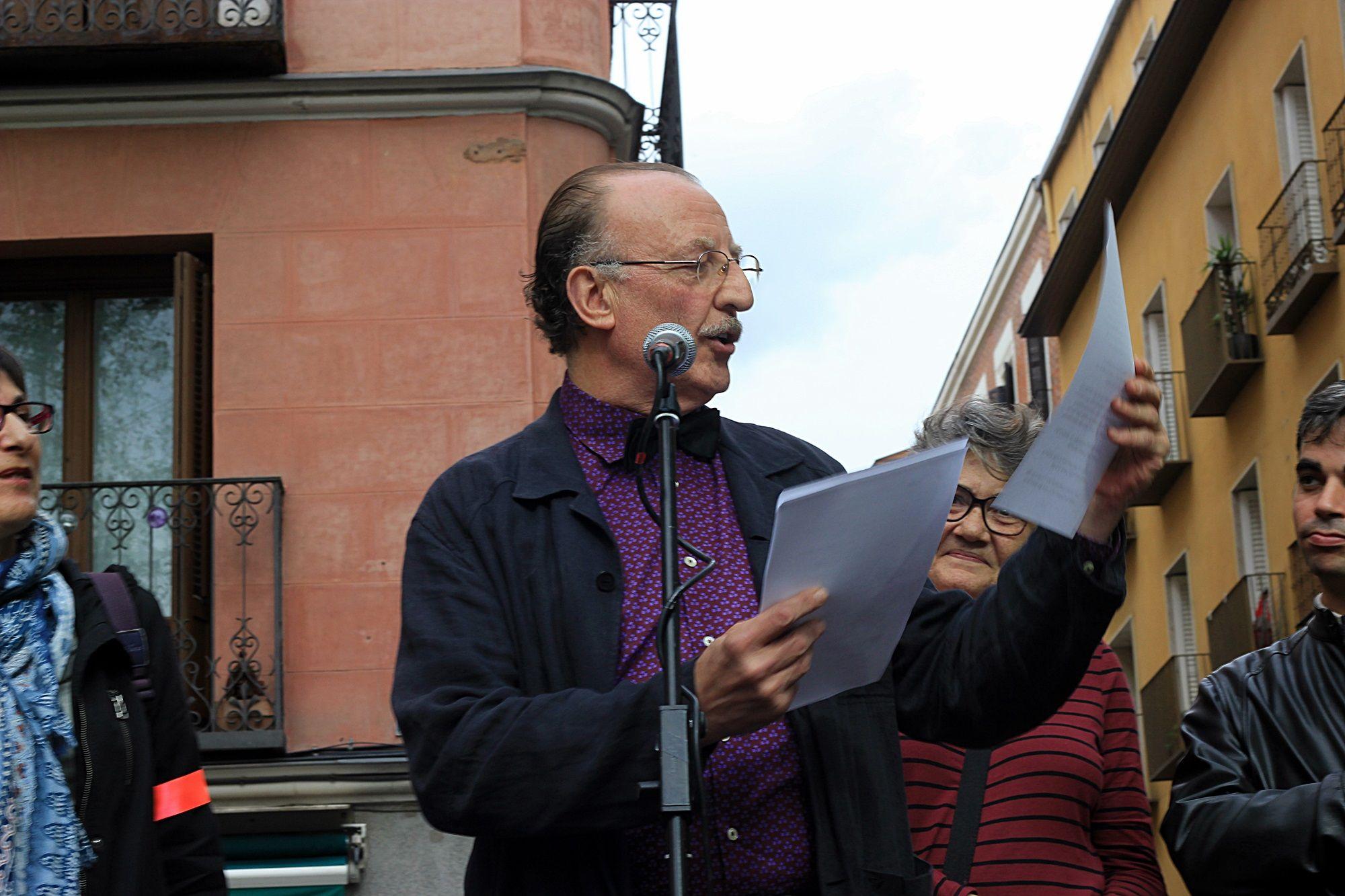El actor Pedro Miguel Martínez, en la lectura del pregón | RAQUEL ANGULO