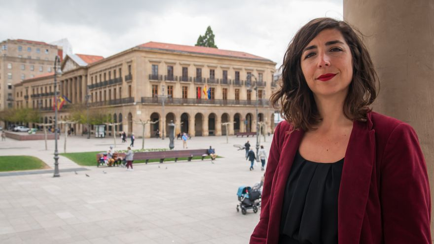 La secretaria general de Podemos en Navarra, Laura Pérez Ruano