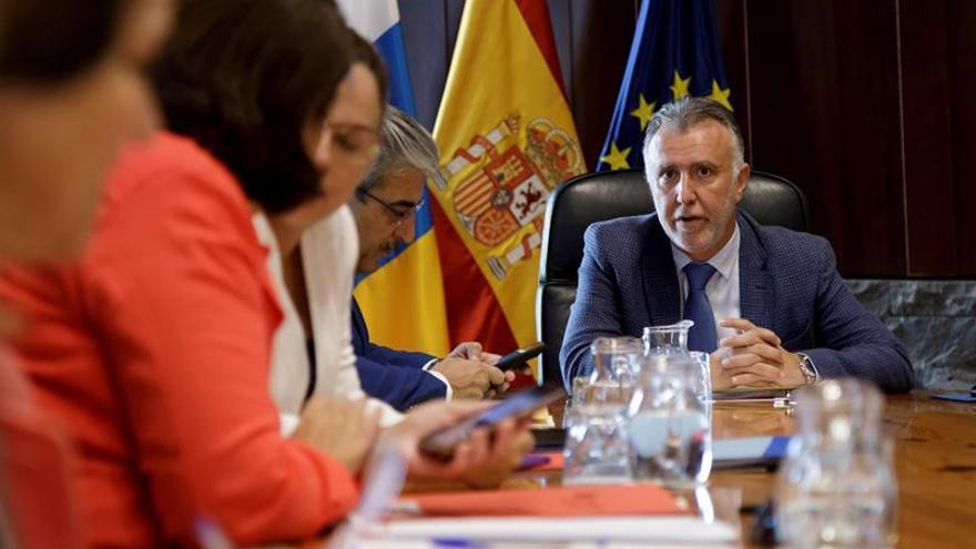 Ángel Víctor Torres, en la reunión de Consejo de Gobierno de Canarias