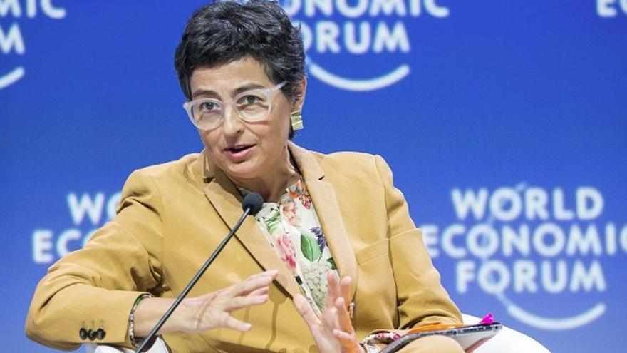 Arancha González Laya, en una reunión del Foro Económico Mundial de África, en Ciudad del Cabo en septiembre de 2019