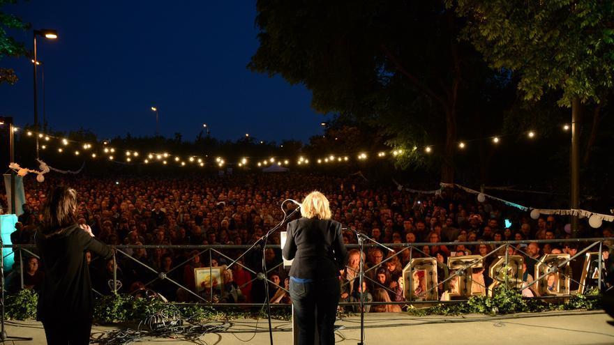 Manuela Carmena, en el cierre de campaña de Ahora Madrid. / Myriam Navas (Ahora Madrid)