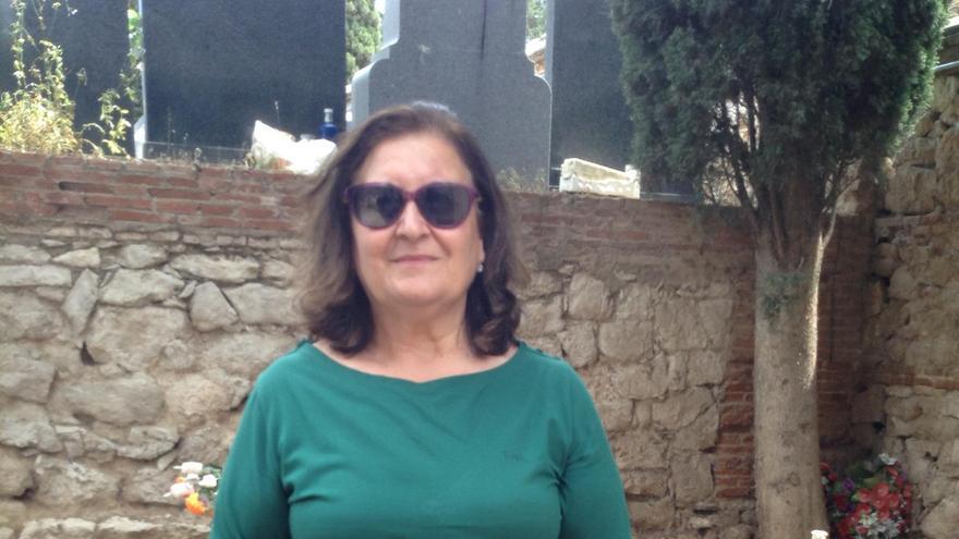 Imagen de Ascensión Florián, nieta de Gregorio Florián, miembro de la UGT de la localidad de Torija ejecutado por el régimen franquista en julio de 1939.JPG