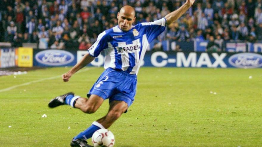 Manuel Pablo, cuando jugaba en el entonces llamado Superdepor.
